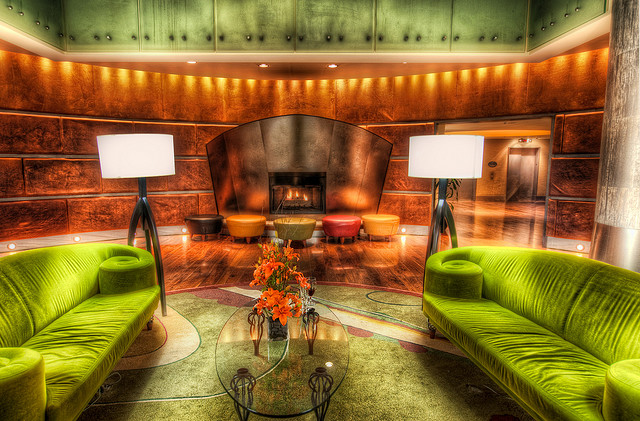 Inspiration Overload: Magnolia Hotel, Green Couches