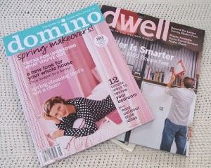 Inspiration Overload: Domino and Dwell Magazines