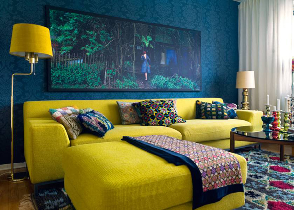 Decorating with IKEA: Yellow Kramfors Sofa
