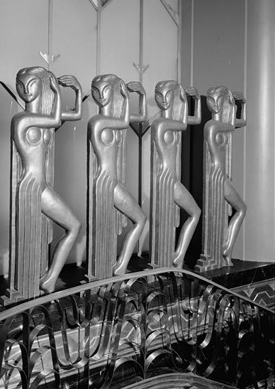 Art Deco Accessories: Paramount Theater Lobby Dancing Figures