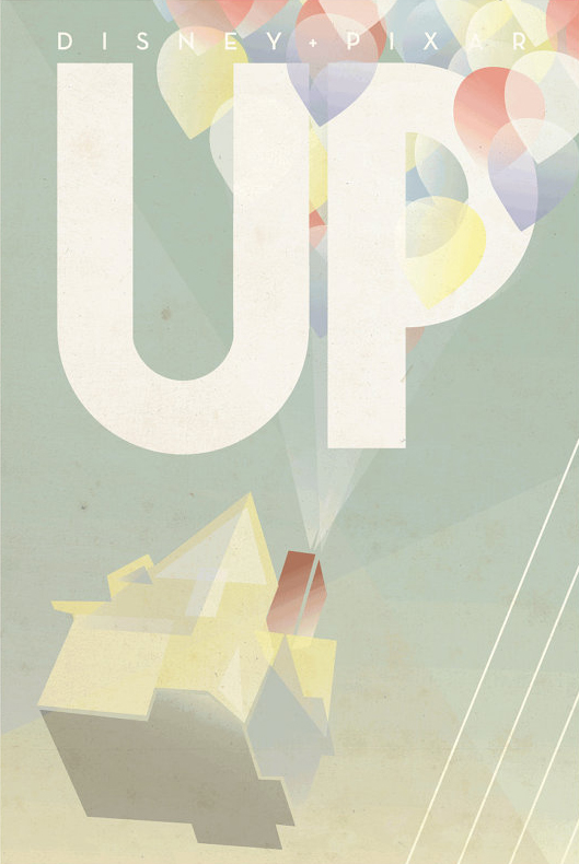 Art Deco Accessories: UP Movie Poster