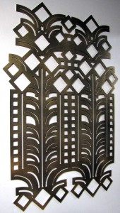 Art Deco Accessories: Cut Metal Wall Art