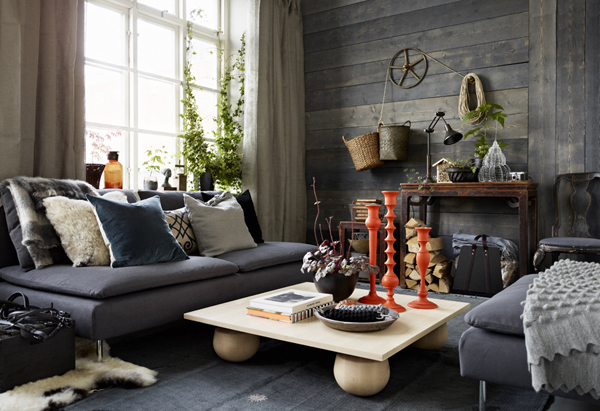 Decorating with IKEA: Rustic Style Lounge