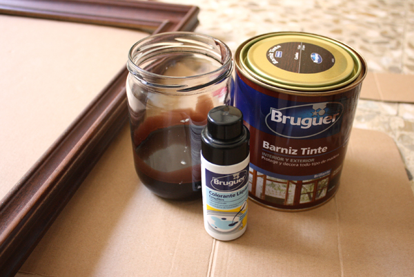 Restore an old frame - Frame jar and pigment