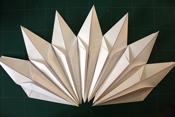 Paper Lamp Shade: Origami Configuration