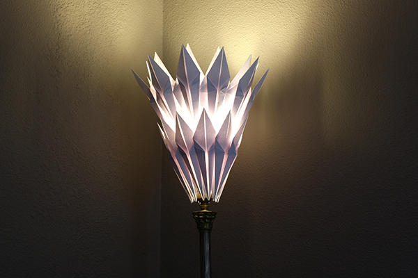 Paper Lamp Shade: Origami Shade Light On