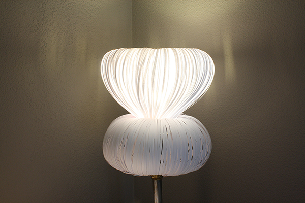 Paper Lamp Shade: final with light on