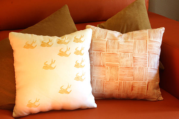 Twine and Potato Stamp: Final Pillows